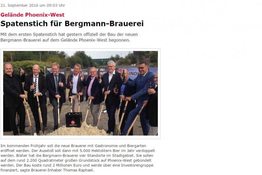 Bergmann Brauerei – Spatenstich