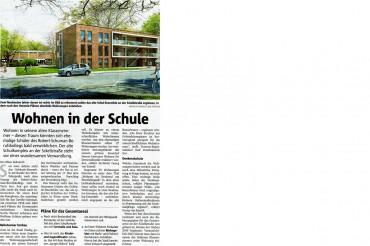 """1. Preis Interessenbekundungsverfahren Robert-Schuhmann-Berufskolleg – """"Wohnen im Denkmal am Westfalenpark"""", Sckellstraße"""