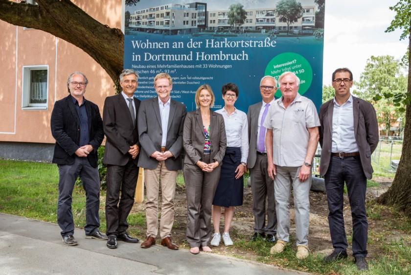 Mehrfamilienhaus Harkortstraße Dortmund Grundsteinlegung