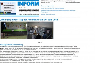 Rundsporthalle Hachenburg – Tag der Architektur 2019
